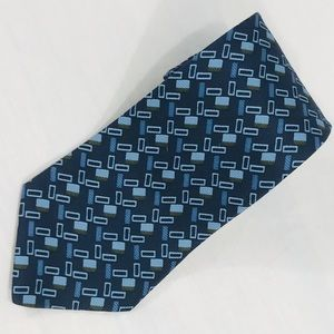 Tommy Hilfiger Navy & Light Blue Triangles Tie